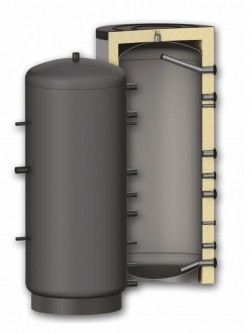 Puffer tartály - hőcserélő nélkül 3000 literes tartály melegvíz tárolás céljára. Sunsystem