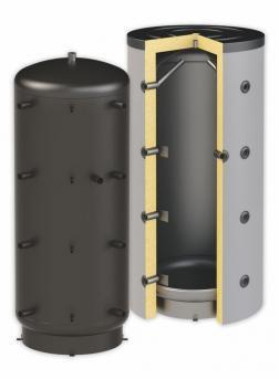 Puffertartály - hőcserélő nélküli 3000 literes tartály - SAROKBA IS SZERELHETŐ kivitel - melegvíz tá