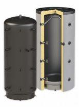 Puffer tartály - hőcserélő nélküli 300 literes tartály - SAROKBA IS SZERELHETŐ kivitel - melegvíz tá