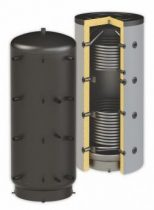 Puffertartály - 2 hőcserélővel 1500 literes tartály melegvíz tárolás céljára