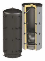 Puffertartály - 1 hőcserélővel 1000 literes tároló, speciálisan SAROKBA IS HELYEZHETŐ, melegvíz tár