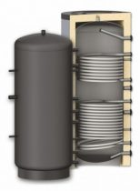 Fűtési puffer tároló - 2 hőcserélővel 1000 literes tartály melegvíz tárolás céljára