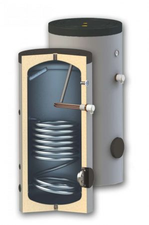 300 literes 1 hőcserélős !! álló, indirekt SunSystem tároló fűtés és napkollektor bojler. Használati