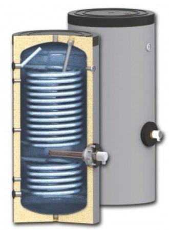 400 literes SunSystem 2 hőcserélős álló vízmelegítő, HMV tároló extra nagy hőcserélőkkel