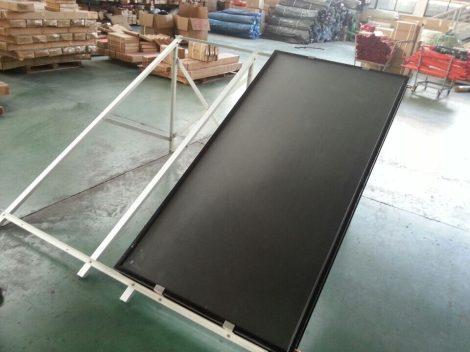 Tetőkampó és síkkollektor dupla tartókeret kombináció rozsdamentes tetőkampó állítható, napkollektor