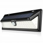 Napelemes vízálló széles látószögű LED kültéri lámpa