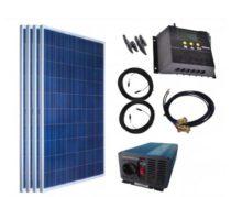 Szigetüzemű napelem rendszer 12V - 230V 100W akkumulátor nélkül