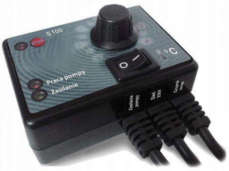 Szivattyú vezérlés hőmérséklet kapcsoló vezérlő 230V 230W érzékelővel