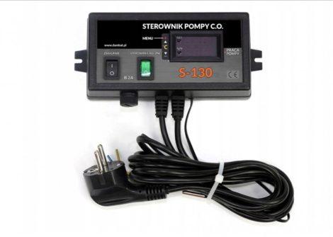 S130 Szivattyú vezérlés hőmérséklet kapcsoló digitális vezérlő 230V 230W érzékelővel
