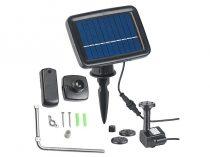 Napelemes akkumulátoros szökőkút 160 liter/óra 60 cm magasság napelemel 1W napelem halastó kerti tó