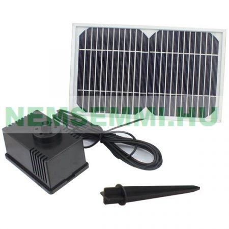 Napelemes szökőkút szivattyú napelemmel Nagyteljesítményű 280 l/h 100 cm max magasság 12V 5W