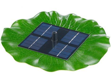 Napelemes úszó szökőkút szivattyú 155 l/ó 30 cm max magasság napelem 8V 1,8W halastó levegőztető lev