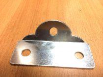 Alumínium talp 2 lukkal napkollektor vagy napelem sík felületre ( talajra, tető ) rögzítéshez Rögzít