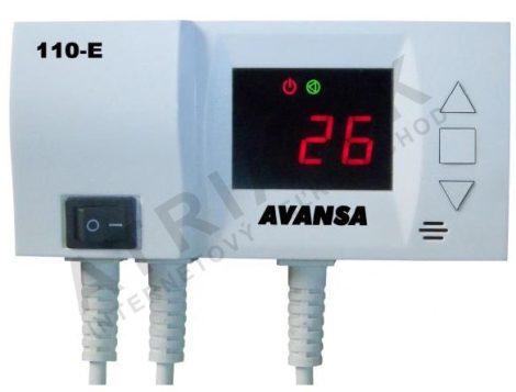 E110 Szivattyú vezérlés hőmérséklet kapcsoló vezérlő 230V 50Hz