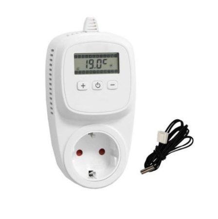 Digitális termosztát hőmérséklet érzékelővel