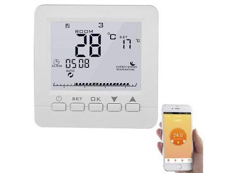 Wi-fi-s termosztát padlófűtéshez, kompatibilis Amazon Alexa és Google Assistant alkalmazással