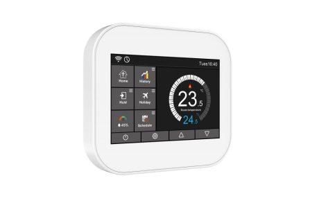 Digitális LCD kijelzős WiFi-es termosztát elektromos padlófűtéshez fehér