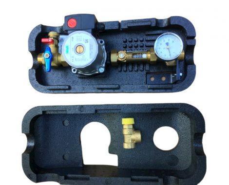 TE-SA Napkollektor szolár állomás biztonsági szeleppel, Wilo szivattyúval, átfolyásmérővel