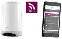 Okosbojler TESY Modeco Cloud 50 literes, WiFi eléréssel számítógépről, ioS és androidos telefonról