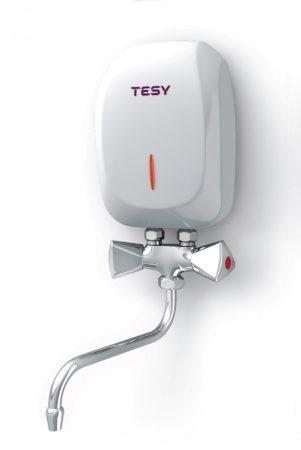 Átfolyós vízmelegítő 3500W mosdó, konyhapult fölé szerelhető, európai gyártmány!