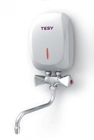Átfolyós vízmelegítő 5000W mosdó, konyhapult fölé szerelhető, európai gyártmány!