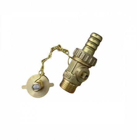 """Töltő-ürítő csap 1/2"""" réz napkollektor és fűtésrendszer feltöltéséhez, ürítéséhez kazántöltő és ürít"""