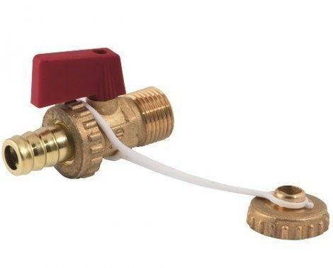 """Töltő-ürítő csap 3/4"""" réz napkollektor és fűtésrendszer feltöltéséhez, ürítéséhez kazántöltő és ürít"""