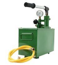 Szolár kézi töltő szivattyú napkollektor kézi töltő pumpa tartállyal Tesztpumpa nyomásmérő