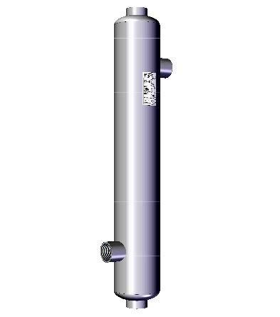 Nordic hengeres hőcserélő 325kW, medence fűtére, rozsdamentes acélból, 400m3 medencéig