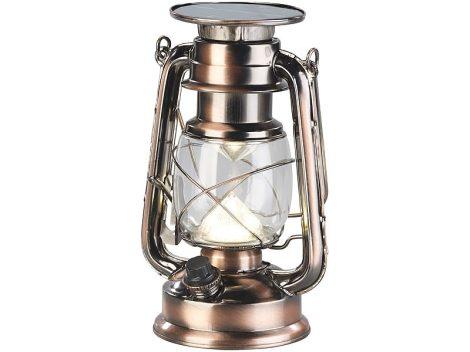 Napelemes LED viharlámpa tompítható fénnyel, nagy teljesítményű 200 lm 3W bronz