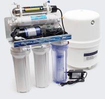 Víztisztító berendezés aktívszenes, membrános UV sterilizáló fénnyel. Napi 180 l