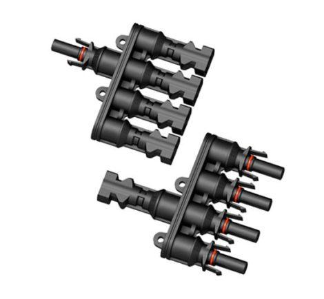 Napelem közösítő csatlakozó 4 napelem 1 közös csatlakozásba 1000V 30A