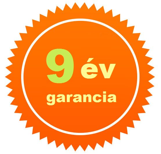 9 év garancia