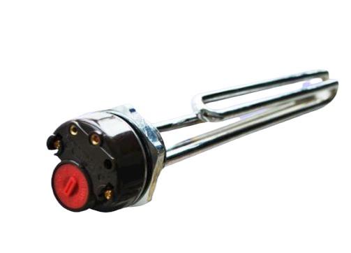 """Fűtőbetét fűtőpatron 230V 2000W cekász 1+1/4"""" azaz 5/4"""" beépített termosztát  Elektromos tartály tároló bojler számára 2 kW"""