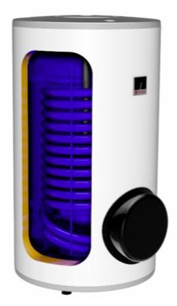 250 literes napkollektortároló Drazice két hõcserélõs + 2,2 KW fütőbetét használati melegvíz indirekt tartály