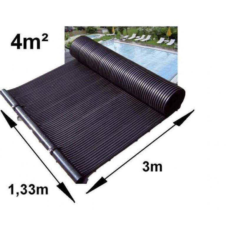 Napkollektor medence fűtő szolár panel 4 m2 Napkollektoros kerti úszómedence jakuzzi fűtés meleg víz napenergia szőnyeg