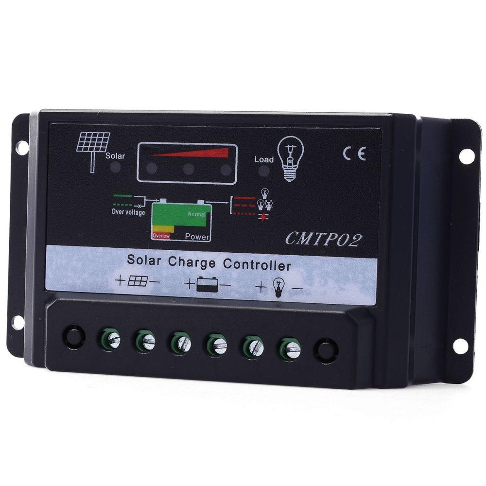 12V 24V 10A napelem töltésszabályozó automata feszültség felismeréssel