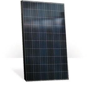 Fekete keretes napelem polikristályos 250 W Méret: (H x Sz x Ma) 1665 x 999 x 50 mm