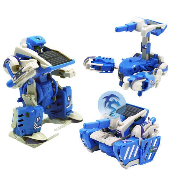 Napelemes transzformer, robot - összerakható játék