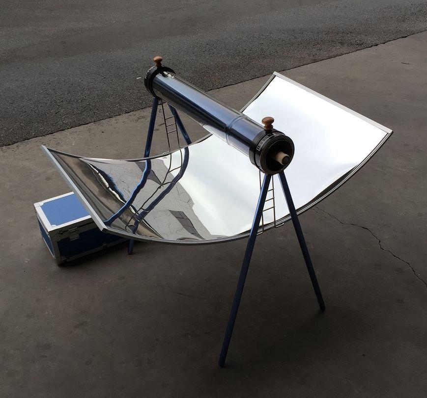 Napkollektoros sütő napenergiás szolár grillsütő, vákuumcsöves gillezés. Értékcsökkentett, de hibátlan termék