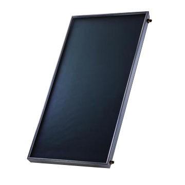 SP olcsó sík napkollektor alumínium csőves síkkollektor fekete keret hárfa elrendezés 4 db 22 mm-es alu csatlakozó, biztonsági szolár üveg 2 m2