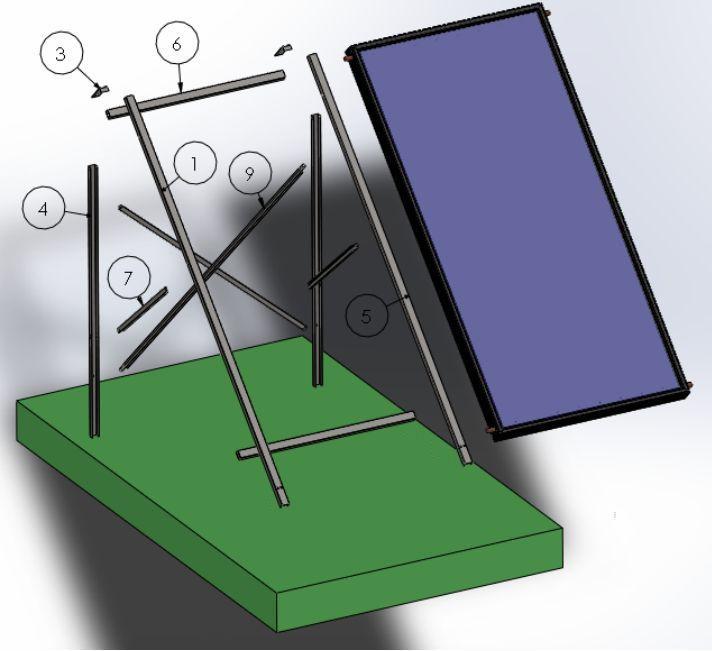 FIVE  FP3 síkkollektor napkollektor prémium álló szerelő keret. Univerzális: ferde tetőre,  lapos tetőre vagy talajra 9 év garanciával!