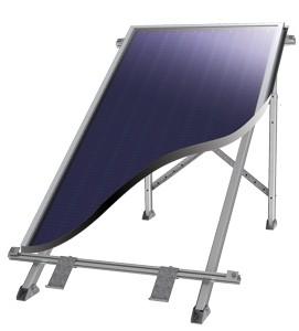 SID Síkkollektor napkollektor ALU szerelő keret és tartóláb sík felületre, 6 év garanciával! Lapos tetőhöz vagy talajra is állítható.