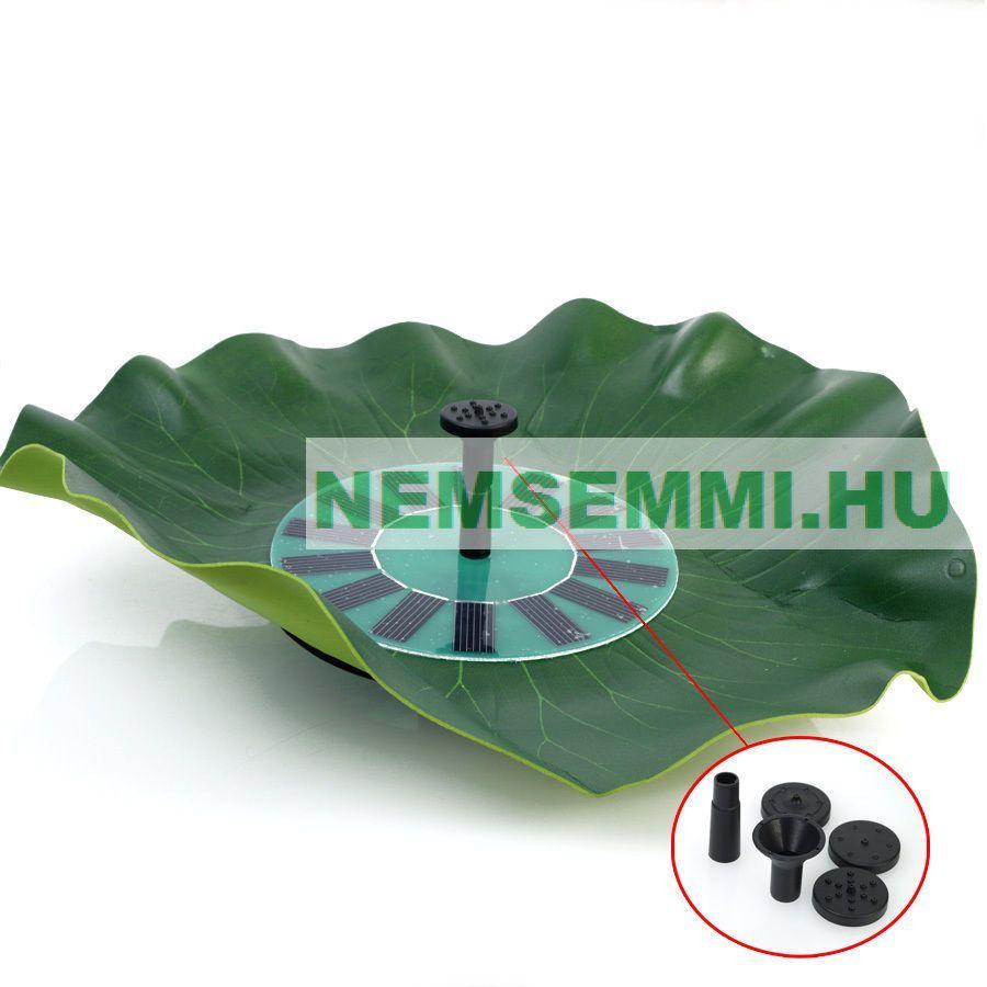 Napelemes úszó szökőkút szivattyú 150 l/ó 70 cm max magasság napelem 8V 1,4W halastó levegőztető levegőztetés vízforgatás